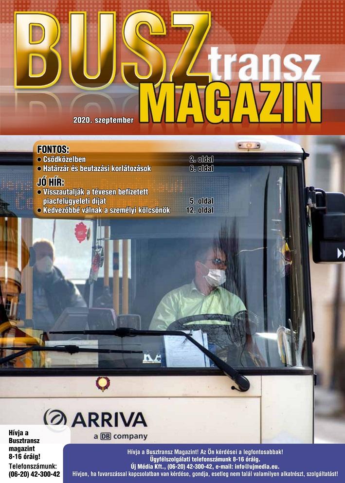Miről írunk a szeptemberi Busz Transz Magazinban?